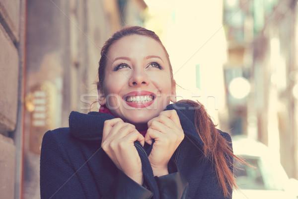 Belle femme parfait blanche sourire sensation heureux Photo stock © ichiosea