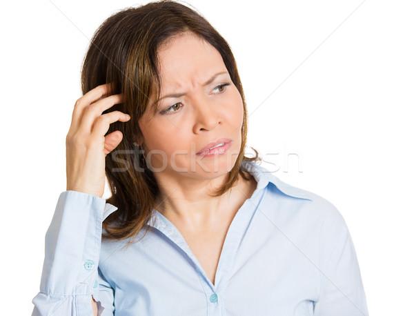 Confused woman Stock photo © ichiosea