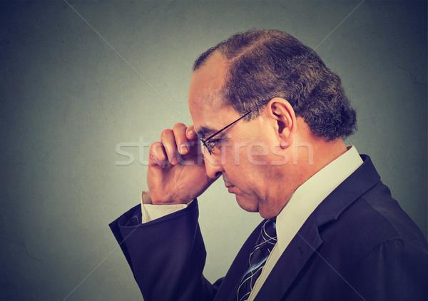Portrait âge moyen homme isolé Photo stock © ichiosea