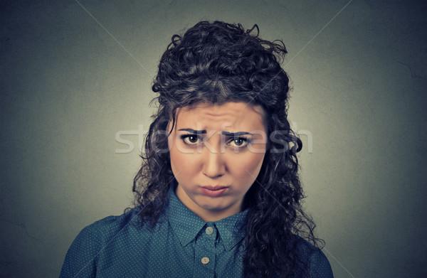 Zangado mulher jovem chateado nervoso retrato Foto stock © ichiosea