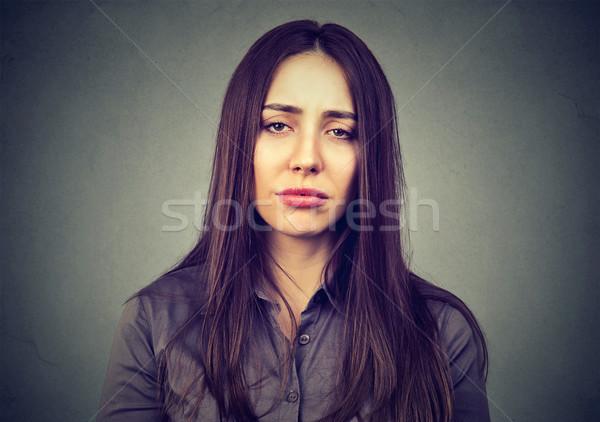 クローズアップ 悲しい 退屈 女性 顔 女性 ストックフォト © ichiosea