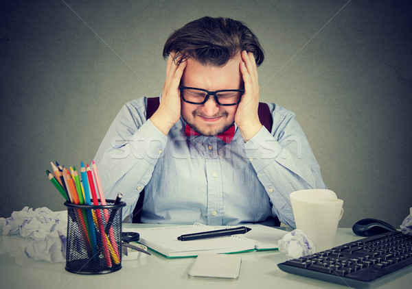 Stressful man having problems at work Stock photo © ichiosea