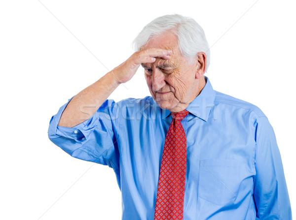 Velho terrível dor bonito idoso homem Foto stock © ichiosea