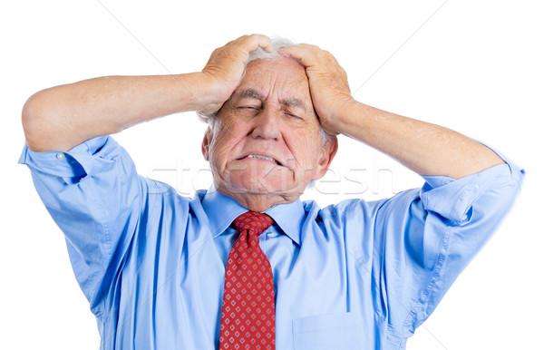 Yaşlı adam korkunç ağrı yakışıklı yaşlı adam Stok fotoğraf © ichiosea
