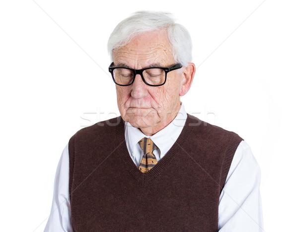 Nyugdíjas nagyapa közelkép portré idős férfi Stock fotó © ichiosea
