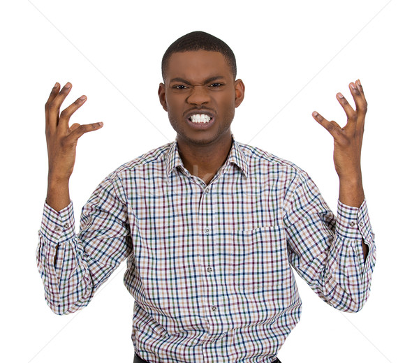 angry man looking at the camera in distress Stock photo © ichiosea