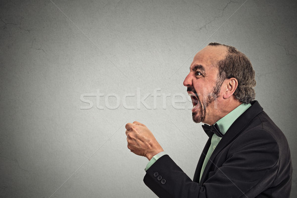 Angry frustrated man screaming  Stock photo © ichiosea