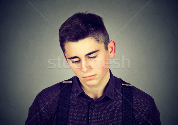 portrait of a sad man looking down  Stock photo © ichiosea