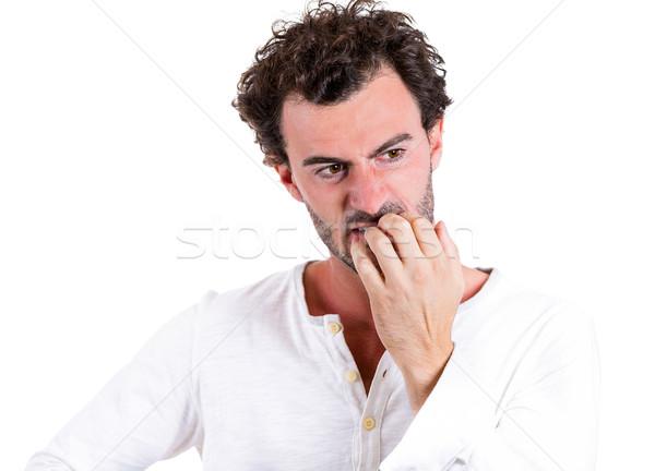 Nervous, nail-biting Stock photo © ichiosea