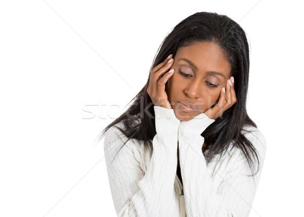 печально депрессия несчастный женщину нет мотивация Сток-фото © ichiosea