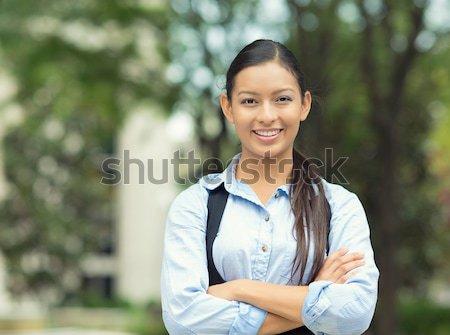 Mosolyog női orvos egészségügy profi közelkép Stock fotó © ichiosea