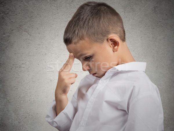 Problems. Boy thinking Stock photo © ichiosea