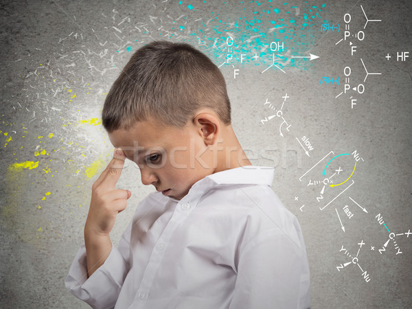 Genius boy solving science problem Stock photo © ichiosea