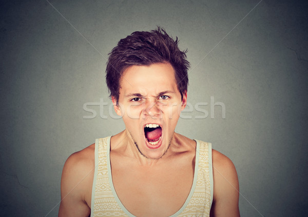young angry man screaming Stock photo © ichiosea