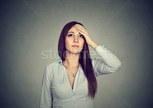 Woman with doubtful worried expression Stock photo © ichiosea