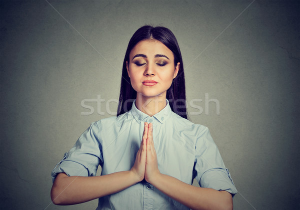 Woman meditating taking a pause from all errands  Stock photo © ichiosea