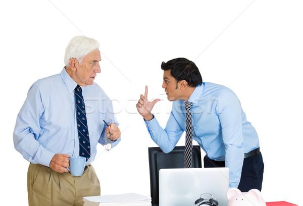 Baas werknemer portret zakenmannen argument Stockfoto © ichiosea