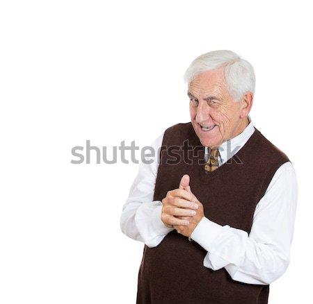 old man plotting Stock photo © ichiosea