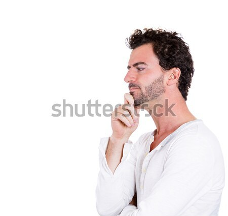 álmodozás közelkép portré jóképű férfi pihen áll Stock fotó © ichiosea