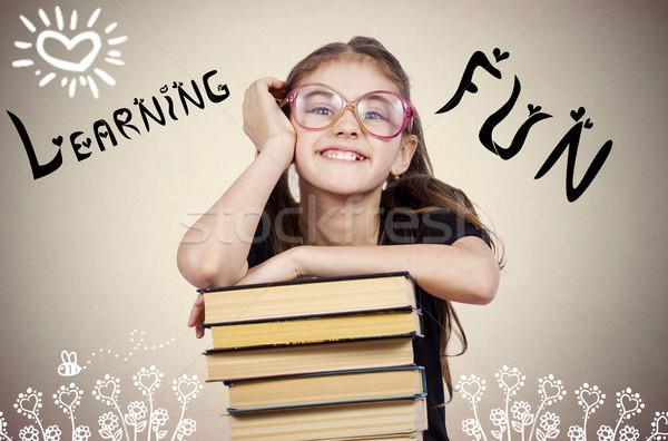 счастливым улыбаясь возбужденный молодые школы студент Сток-фото © ichiosea