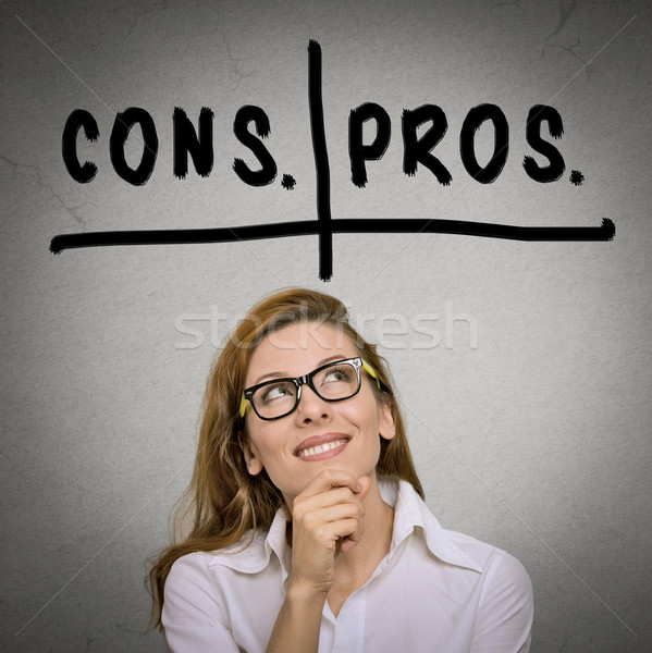 pros and cons, for and against argument concept Stock photo © ichiosea