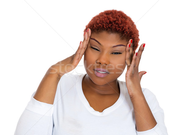 Woman having migraine Stock photo © ichiosea