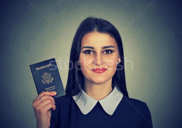 портрет привлекательный молодые счастливым женщину США Сток-фото © ichiosea
