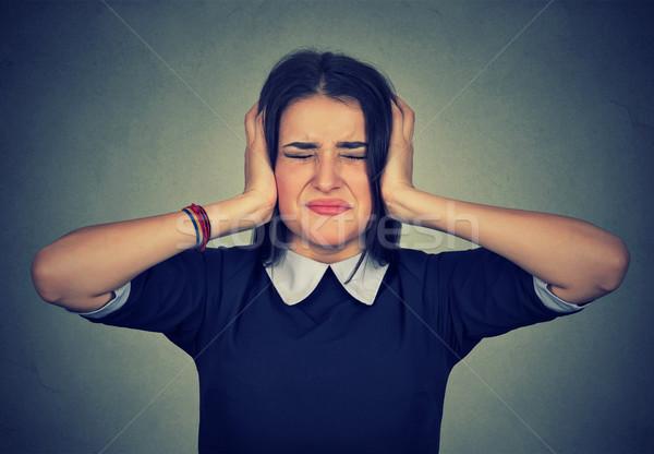 女性 動揺 耳 手 ストックフォト © ichiosea