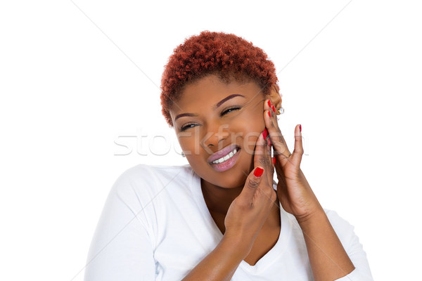 Woman having tooth ache Stock photo © ichiosea