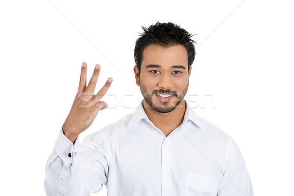 man giving three finger sign Stock photo © ichiosea