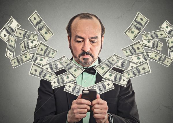 Stock photo: Technology, online banking, money transfer, e-commerce concept