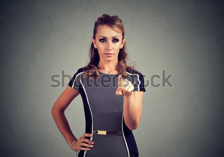 Young woman with hands on stomach having bad aches pain  Stock photo © ichiosea