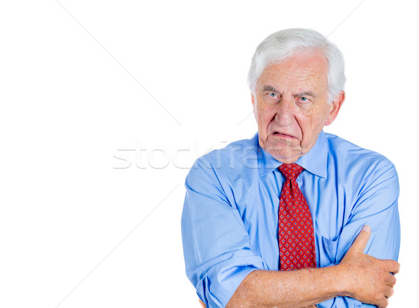 old man showing disgust Stock photo © ichiosea