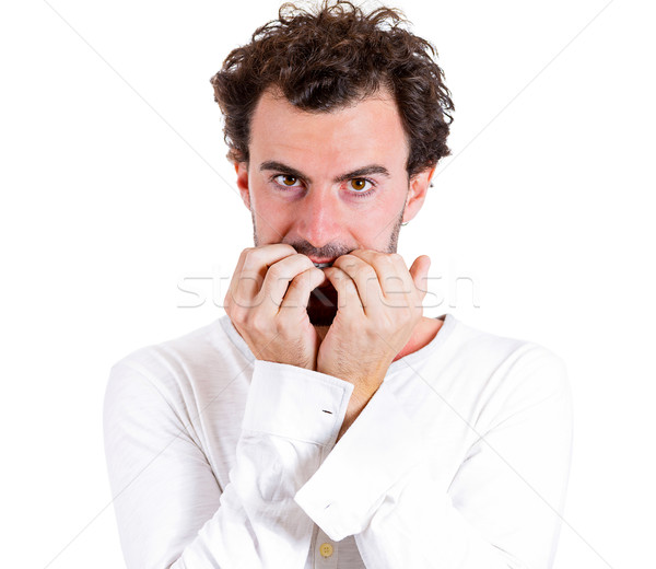 Anxious biting fingernails Stock photo © ichiosea
