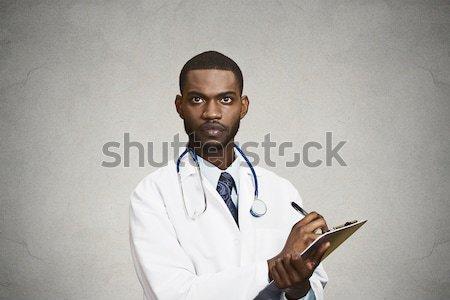 Stok fotoğraf: Mutlu · gülen · erkek · doktor · portre · erkek