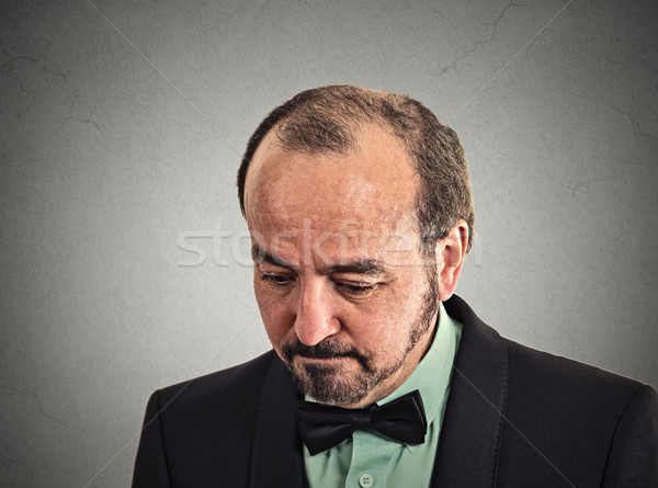 sad, depressed, desperate, alone, disappointed in life man looking down  Stock photo © ichiosea