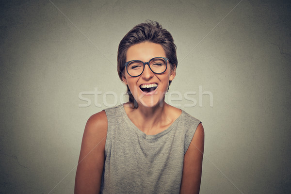 Closeup portrait smiling laughing woman  Stock photo © ichiosea