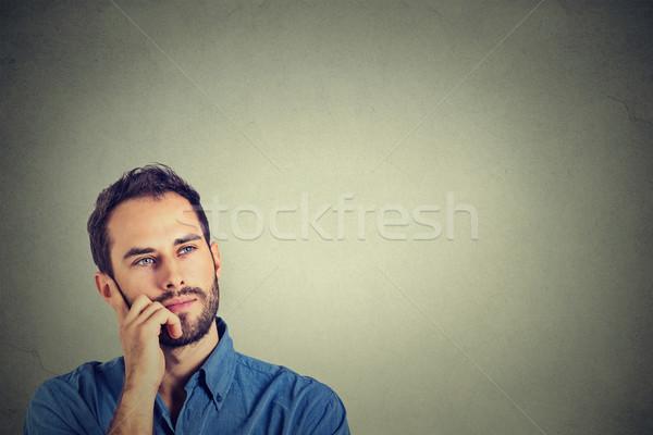 Closeup of a thinking man  Stock photo © ichiosea