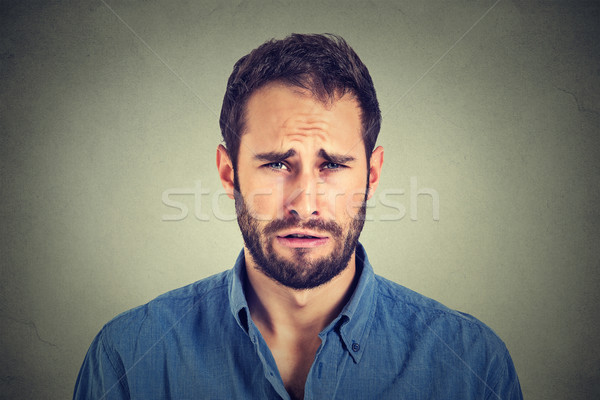 Portrait of a sad young man  Stock photo © ichiosea