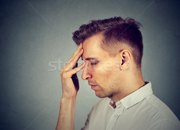 Triste deprimido solo decepcionado melancólico hombre Foto stock © ichiosea