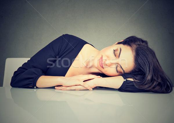Woman sleeping on a desk Stock photo © ichiosea