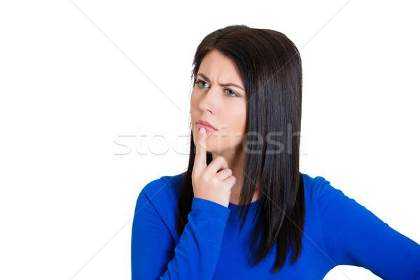Woman thinking Stock photo © ichiosea