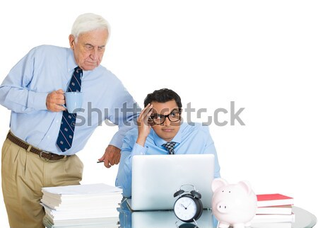 old man making advances on his secretary Stock photo © ichiosea