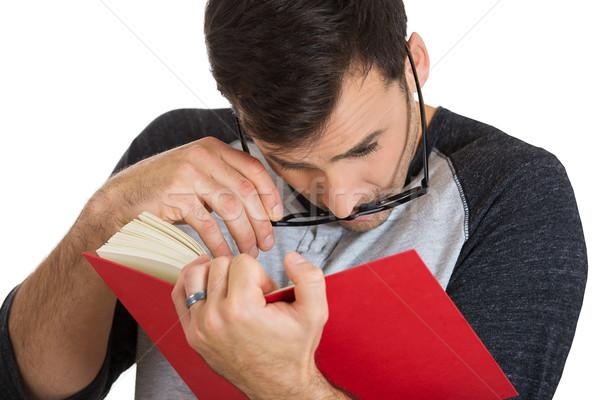 Mann lesen Porträt jungen guy Stock foto © ichiosea