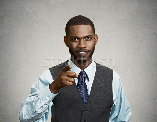 Confident businessman, pointing finger at you Stock photo © ichiosea