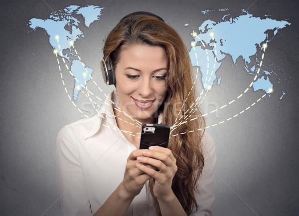 Modern kommunikáció technológia mobiltelefon magas tech Stock fotó © ichiosea