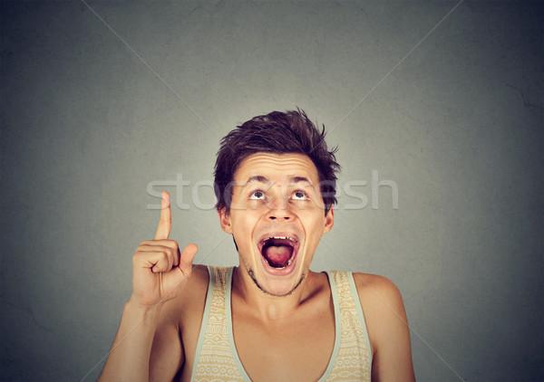 человека хорошие Идея указывая указательный палец вверх Сток-фото © ichiosea