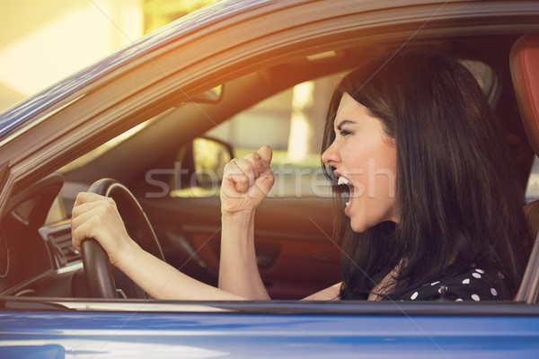 Oldal profil mérges fiatal sofőr negatív Stock fotó © ichiosea