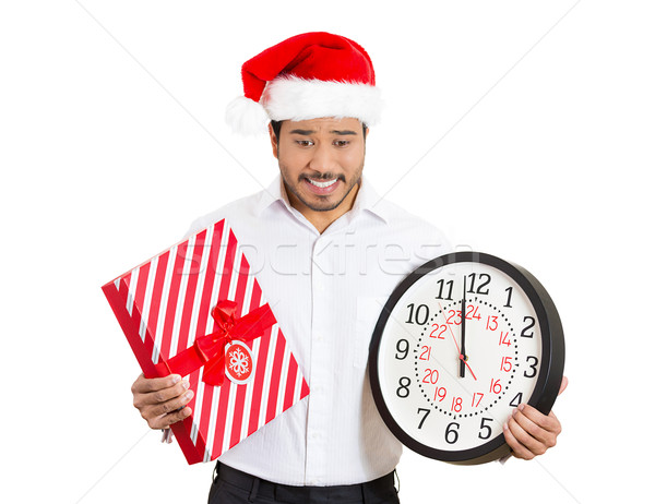 man holding clock stressed Stock photo © ichiosea