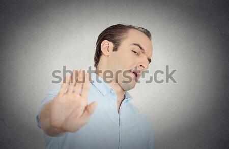 Spreken geen kwaad portret jonge man Stockfoto © ichiosea